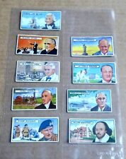 SLEEVE OF 9 x LYONS MAID  FAMOUS PEOPLE TRADING CARDS  1966