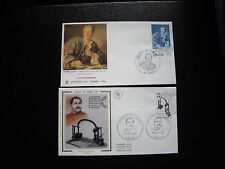 FRANCE - 2 enveloppes 1er jour 1984/1985 (journee timbre) (cy92) french (A)
