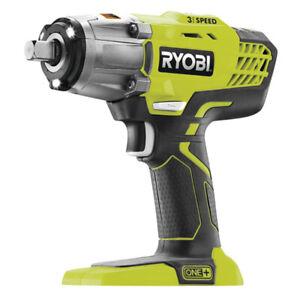 Ryobi ONE+ R18IW3-0 18V, 400Nm Cordless 3-Speed Heavy Duty Impact Wrench (Body O