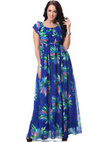 pld16 PLUS SIZE Floral Off The Shoulder Long Formal Evening Dress Maxi 12 - 24