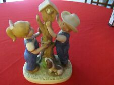 "Home Interior ""Our Bird House"" Denim Days Figurine GA-A-17"