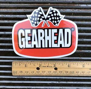 Gearhead Brand Logo Sticker Decal Hot Rods Garage Punk Rock Checkered Flags