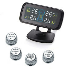 LCD Car TPMS Tyre Tire Pressure Monitoring System Wireless w/ 4 External Sensors