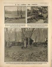 ravitaillement Poilus Tranchée Cabane Bois  Bataille de l'Artois France 1915 WWI