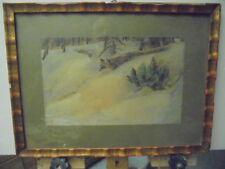 Fuchs im Schnee , Jagd , Pastell , gekonnte Malweise,  unsigniert , Wild ,