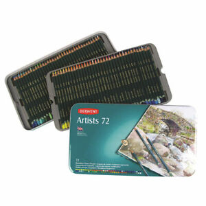 Derwent Artists 72 Coloured Pencil Set in Metal Tin **BRAND NEW FACTORY SEALED**