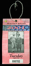 2001 Masters Augusta National Golf Club Tuesday Practice Rnd Ticket Woods Win