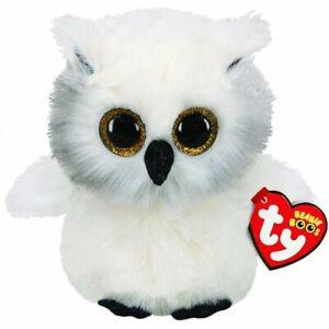Ty 36305 Austin Owl - Beanie Boos Plush Toy, Multicoloured, 15cm