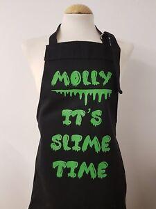 Slime time Personalised 9 - 12 years girls/boys Apron birthday Christmas present