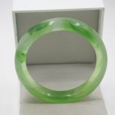 New 2018 Green Agate Graceful Bangle Luck Smooth Fashion Pattern Bracelet 60mm
