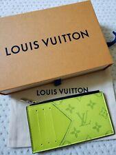 NEW Louis Vuitton TAIGARAMA Coin Card Holder Wallet, Jaune Neon Yellow