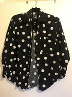 Vintage Spot Shirt Black White M 8/10/12