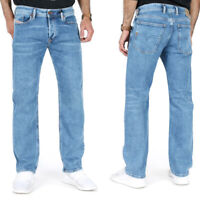 Diesel Herren Regular Straight Fit Stretch Jeans Hose Hell Blau | Waykee R48RA