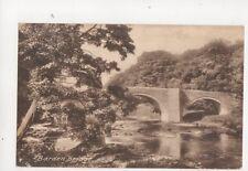 Barden Bridge Yorkshire Vintage Postcard 124b