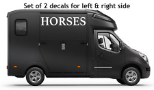 Horsebox Graphics large Vinyl Sticker Decals Horse Box Van RV