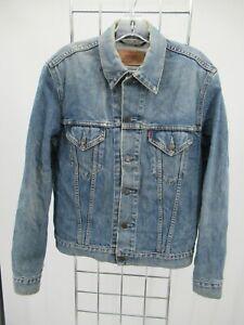 I7079 VTG Men's Levi's Button-Down Denim Trucker Jacket Size M