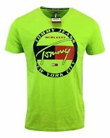 Tommy Hilfiger Men's Cotton Tommy Jeans NYC T-shirt - Regular Fit - Light Green
