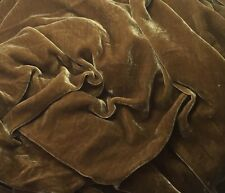 """Silk VELVET Fabric ANTIQUE GOLD by the yard 45"""""""