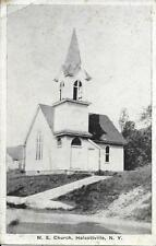 M E Church Halcottville  NY Handsome Vintage postcard postally used in 1936