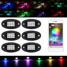 6X RGB Car LED Under Body Light Rock Lamp Offroad Truck APP bluetooth Wireless