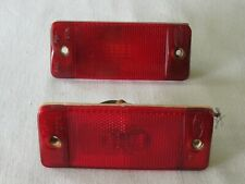 2 Org OEM Ford 1967 68 69 70 71 72 Custom Truck Red Side Marker Light Lens F150