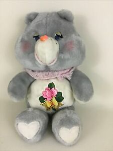 "Care Bears Grams Bear 15"" Plush Stuffed Animal Toy w Scarf Vintage 1983 Kenner"
