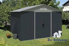 Geräteschuppen Saffier 300x301cm  Gerätehaus Stahl Metall Geräteschrank Garten