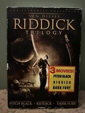 Riddick Trilogy Dvd - Pitch Black / The Chronicles Of Riddick W Slipcover New