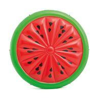 Intex Giant Inflatable 72 Inch Watermelon Island Summer Swimming Pool Float Raft
