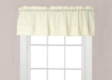 """HOLDEN NATURAL Ivory Unlined Window Valance by Saturday Knight 58""""Wx13""""L"""