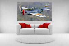 P-47 Thunderbolt Plane Canvas Giclee Print Picture Unframed Home Decor Wall Art