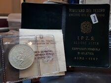 Repubblica,500 Lire 1987 Zecca Mondiali Argento Silver box originale Fdc [t9]