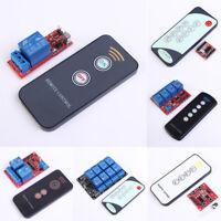 IR Relay Driver Board Module 5V/12V + 1/2 Key Remote Control Infrared Receiver