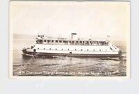 RPPC REAL PHOTO POSTCARD OREGON M.R. Chessman Ferry Astoria to Megler WA Smith r