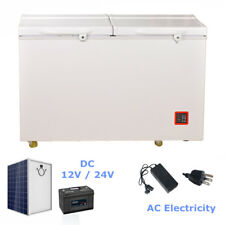 SMAD 7.5 Cu Ft Solar Power Fridge Freezer Chest Freezer DC 12V 24V / AC White