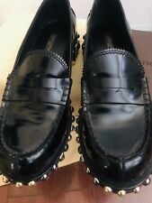 AUTHENTIC Louis Vuitton Women Oxford Studded Loafer size 37 Italy