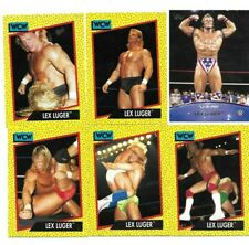 TOPPS WWE WCW 6 LEX LUGER WRESTLING CARDS READ BORN IN BUFFALO NEW YORK