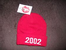 Strickmütze * KISS Clothing * 2002 * like Justin Bieber * Rot * NEU