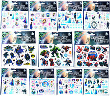 FROZEN BATMAN AVENGERS SPIDERMAN TATTOOS Boys Girls Birthday Party Gift Bag Kids
