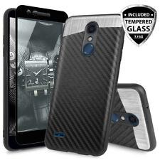 For LG K30/Premier Pro/Xpression Plus Magnetic Phone Case+Black Tempered Glass