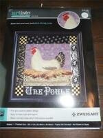 "ZWEIGART ARTISTE Counted Cross Stitch Kit - UNE POULE - 12"" x 12"""