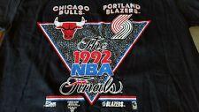 VINTAGE 1992 NBA FINALS CHICAGO BULLS VS PORTLAND TRAIL BLAZERS T-SHIRT SIZE L