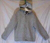Boys George Plain Light Grey Marl Zipped Hooded Jacket Hoodie Age 5-6 Years