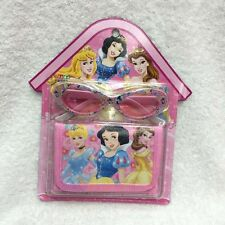 Lot Cartoon princess children folding wallet purses and Glasses Set Toy gifts