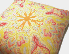 Pottery Barn Outdoor Warm Colors Penelope Paisley Chair Bench Toss Pillow New
