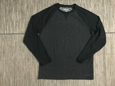 Orvis Men's Medium Lounge Pajama Shirt Black Charcoal Heather Long Sleeve