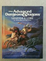 AD&D Advanced Dungeons and Dragons 1st Edition Legends and Lore Excel Condition