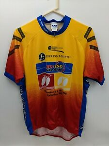 Voler Men's Cycling Shirt Size 2XL Yellow Red Express Scripts MS150 Jersey