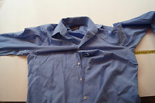 JACQUES BRITT Herren Hemd langarm klassisch edel Anzug Gr.M / 15,75/ 40 blau #42