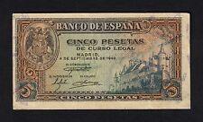 F.C. 5 PESETAS 1940 , SERIE H , EBC- .